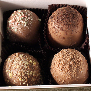 American Original Chocolate Truffles (4pc box) MAIN