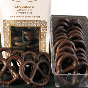Dark Chocolate Covered Pretzels (8oz)