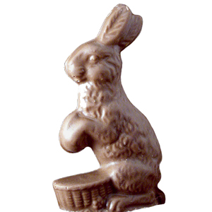 Milk Chocolate Bunny on Basket (4oz) MAIN