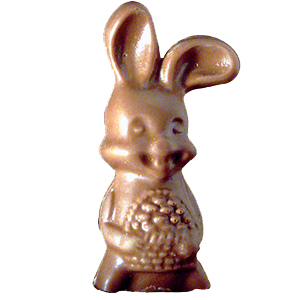 Milk Chocolate Bent Ear Bunny (3.5oz) MAIN