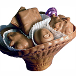 Chocolate Basket w Milk Chocolates Asst (16oz) THUMBNAIL