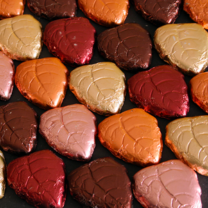 Dark Chocolate Foil Fall Leaves (12oz)