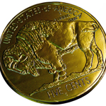 Milk Chocolate Gold Buffalo Nickel (.75oz)_THUMBNAIL