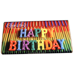 Milk Chocolate Happy Birthday Bar (3.5oz)