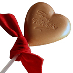 Heart Lollipop w Ribbon - Milk Chocolate (1.5o)_THUMBNAIL
