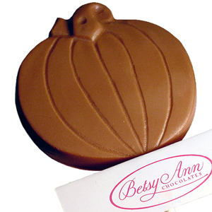 Pumpkin Lollipop, Milk Chocolate (1.5oz) MAIN