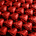 Red Foil Hearts - Milk Chocolate (12oz) Mini-Thumbnail