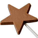 Milk Chocolate Star Lollipop (1oz) THUMBNAIL