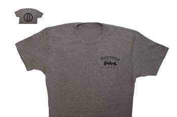 Buttonwood T shirt - Logo - Light Grey