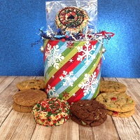 Season's Greetings or Holiday Cheer Gift Tins