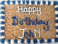 1/2 Sheet Chocolate Chip Cookie Cake (feeds up to 32)