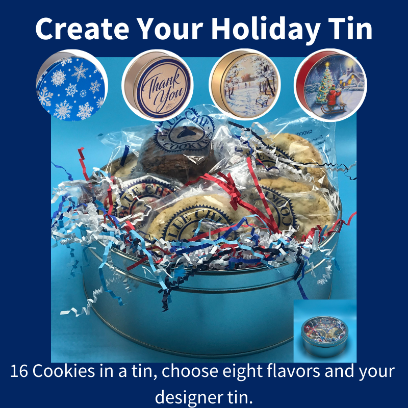 Holiday Cookie Tin (16 Cookies/Treats) THUMBNAIL