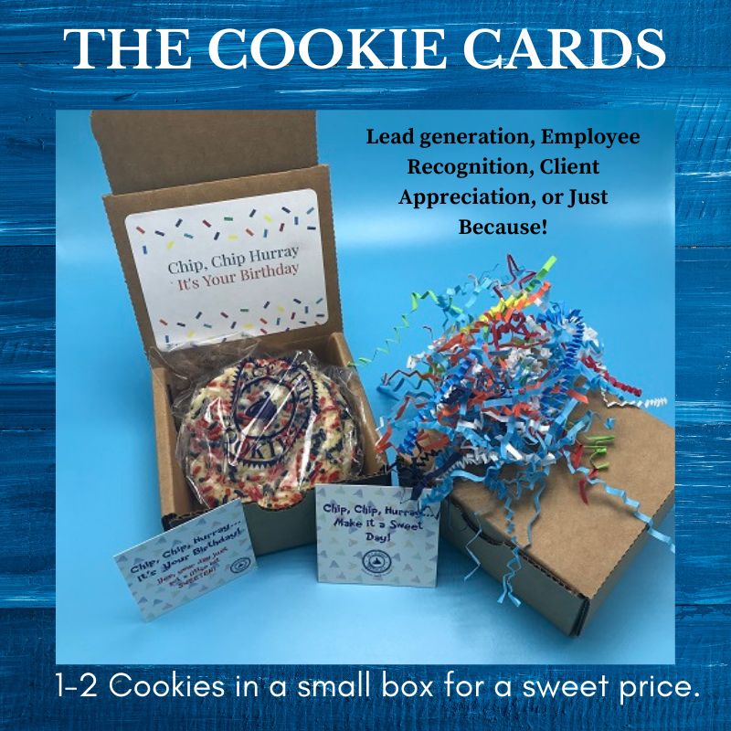 2 cookies in a box for employee recognition, client appreciation
