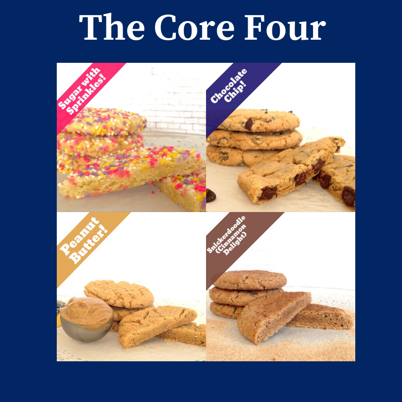 Eight big cookies, under $35.00, includes Shipping & Handling. THUMBNAIL