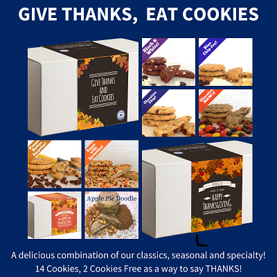 Give Thanks, Eat Cookies  (14 Cookies) LARGE