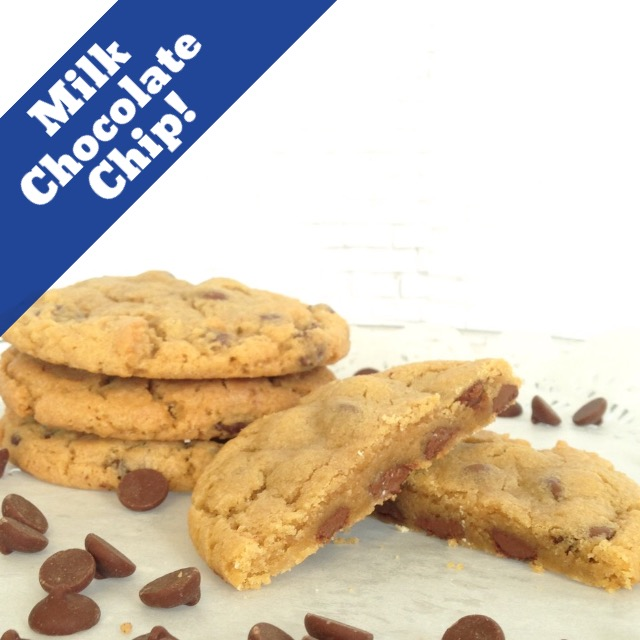 milk chocolate chip gourmet cookies