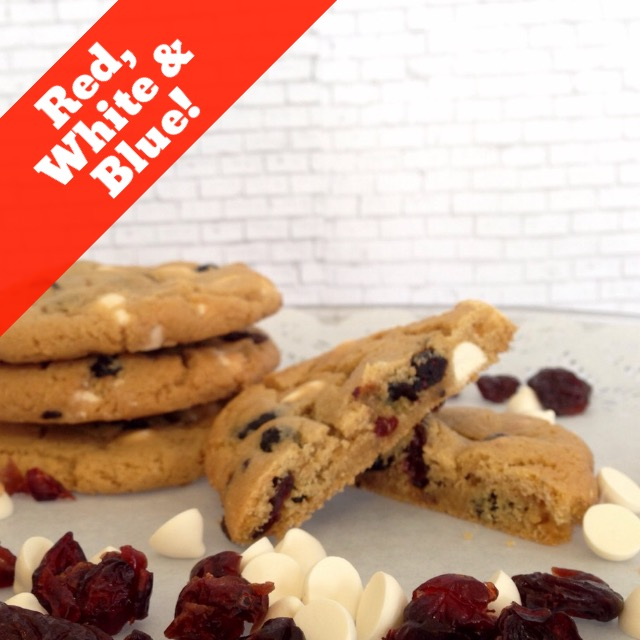 Ocean Spray Blueberries and Cranberries, plus Guittard White Chocolate  Chips LARGE