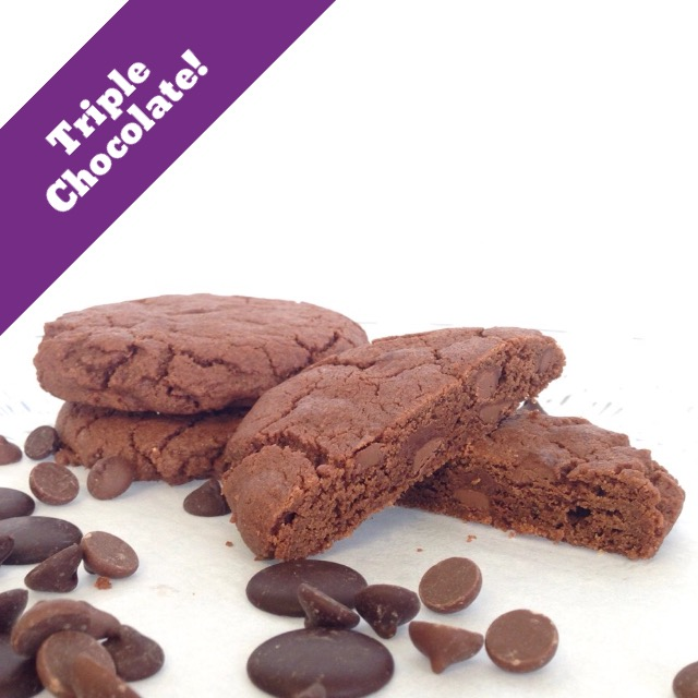 Triple Chocolate -(14 Cookies)