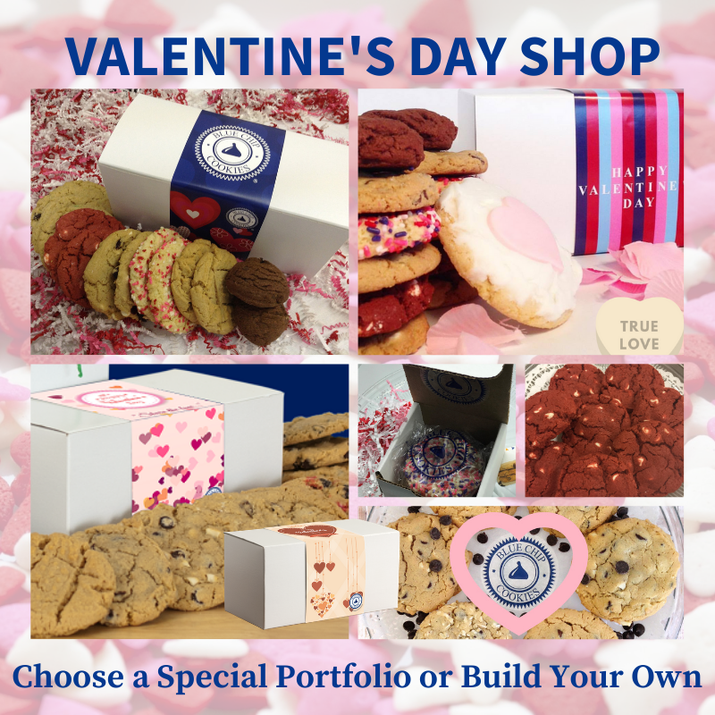 Best Valentine's Day Gourmet Cookies Shipped, Blue Chip Cookies
