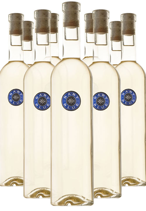 ONE CASE OF 2018 BABY BLUE BLANC LARGE