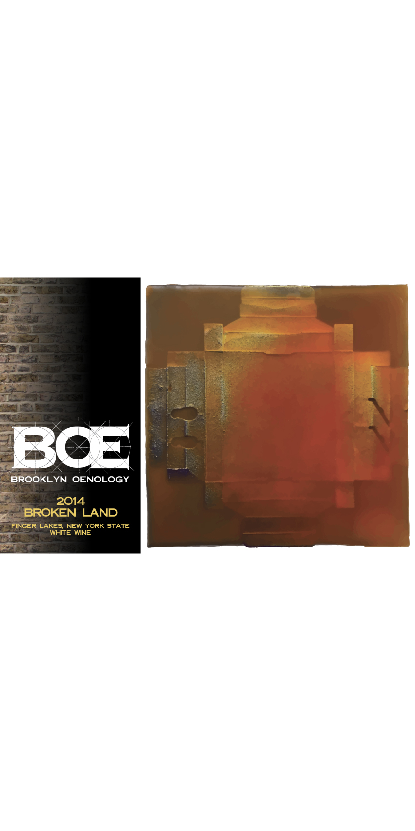 "2014 BOE ""Broken Land"" Orange Wine SWATCH"