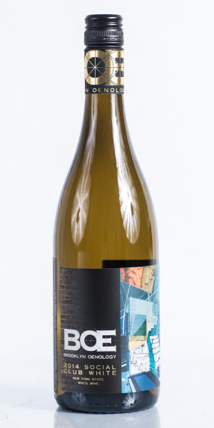 Bottle of New York chardonnay wine. THUMBNAIL