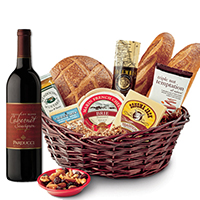 Taste of SF Gift Basket with CA Cabernet Sauvignon Wine #532 THUMBNAIL