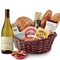 Taste of SF Gift Basket with CA Chardonnay Wine #533 THUMBNAIL