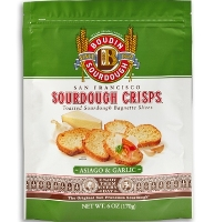 Sourdough Garlic & Asiago Crisps 6oz #A61524