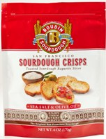 Sourdough Crisps. Sea Salt & Olive 6 oz #A61522