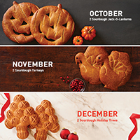 New!! Holiday 3 Month Bread Club #980