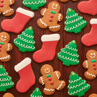 NEW! Holiday Iced Cookies (12) #995