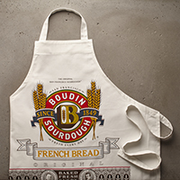 Apron - Boudin Logo Screen Printed#A51562 MAIN