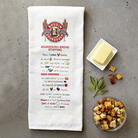 New!! Boudin Sourdough Bread Stuffing Recipe Towel (1) #A52808 MAIN