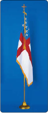<big>Deluxe Episcopal Flagpole/Flag Sets</font></big>
