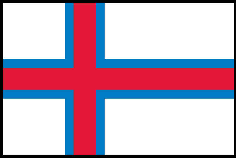 Faroe Islands flag THUMBNAIL