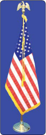 <big>Freedom Indoor Flagpole/Flag Set</font></big> THUMBNAIL