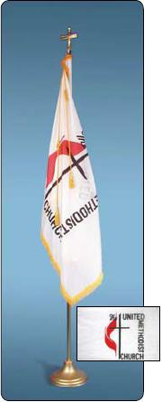 <big>Deluxe United Methodist Flagpole/Flag Sets</font></big> THUMBNAIL