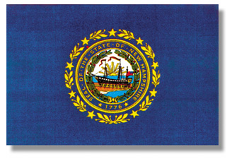 <big>New Hampshire State Flag</font></big> THUMBNAIL