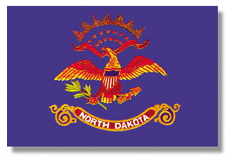 <big>North Dakota State Flag</font></big> THUMBNAIL