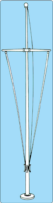 <big>Aluminum Single Mast Nautical Series with Yardarm 20' - 80'</font> THUMBNAIL