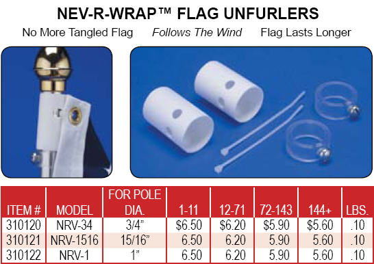 <big>Nev-R-Wrap Flag Unfurlers</font></big> MAIN