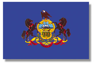<big>Pennsylvania State Flag</font></big> THUMBNAIL