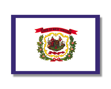 <big>West Virginia State Flag</font></big> THUMBNAIL