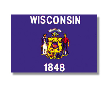 <big>Wisconsin State Flag</font></big> THUMBNAIL