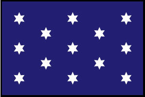 <big>Washington's Commander-In-Chief Flag</font></big> THUMBNAIL