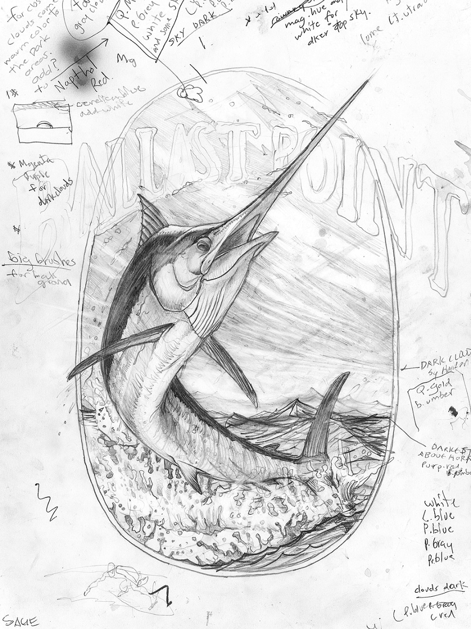 Art Sketch - Black Marlin THUMBNAIL