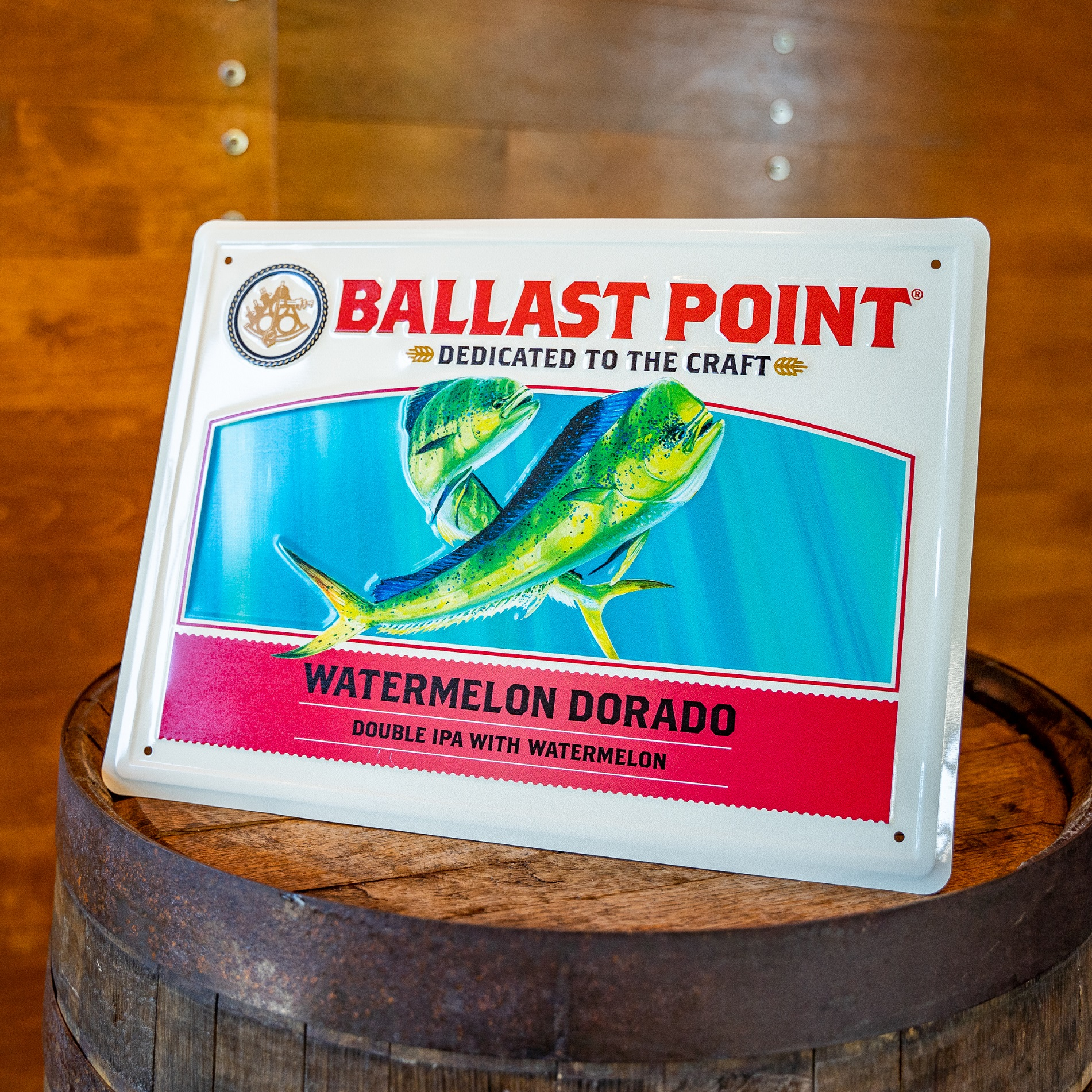 Watermelon Dorado Tin Sign THUMBNAIL