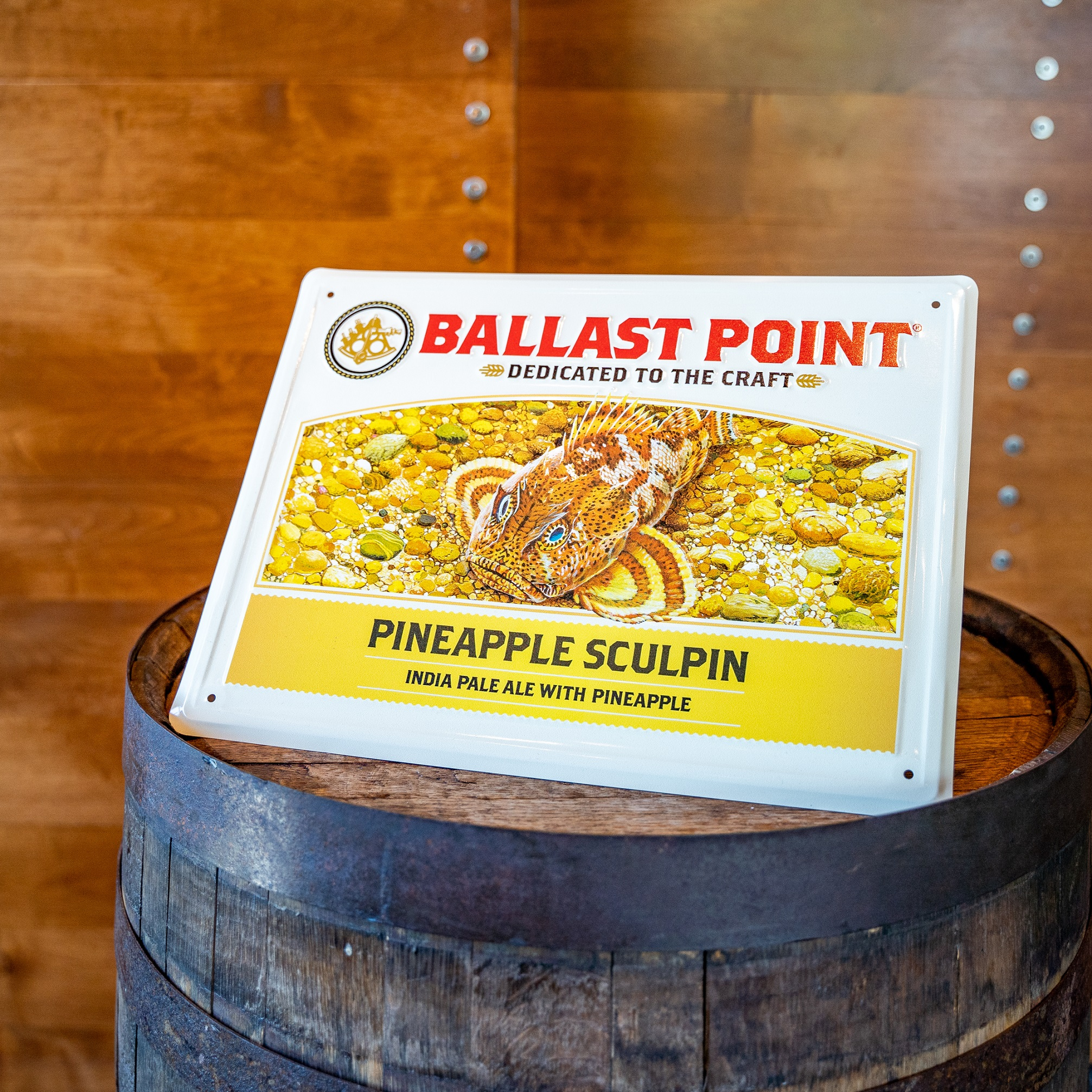 Pineapple Sculpin Tin Sign THUMBNAIL