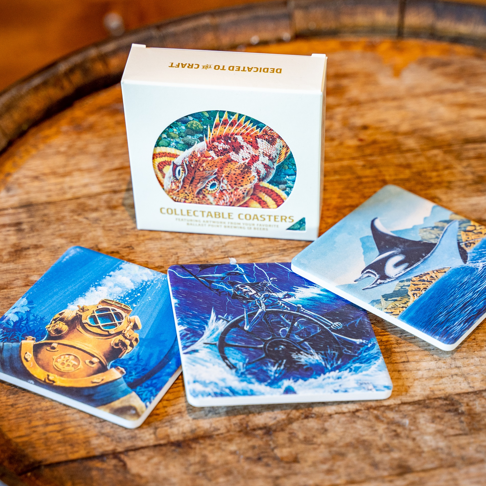 Ballast Point Sandstone Coaster Set 2.0 THUMBNAIL